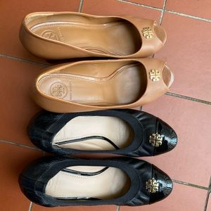 2 pairs Tory Burch shoes
